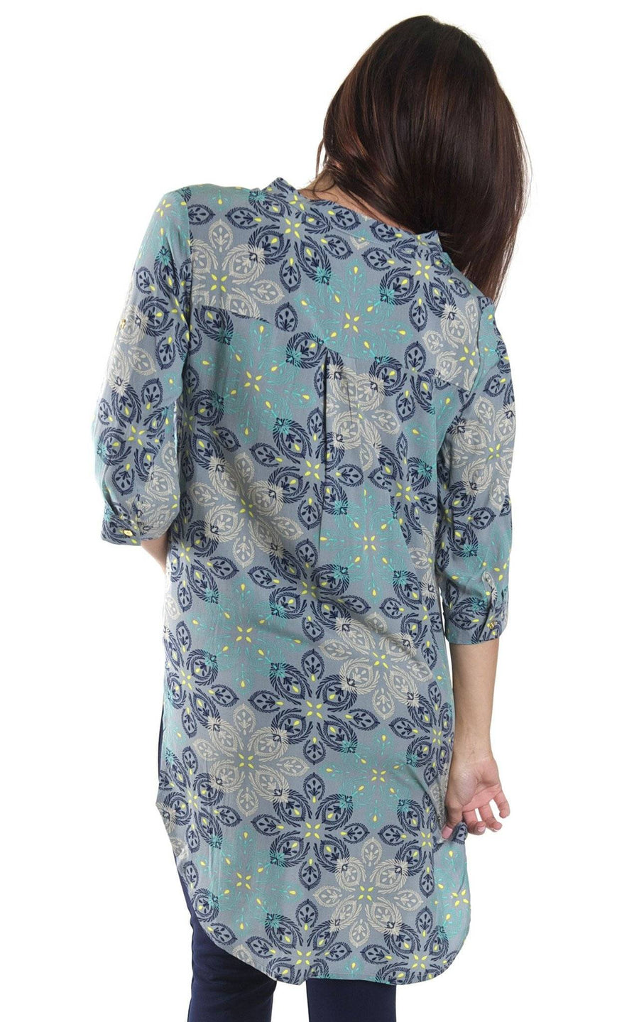 Silver Mist Avery High Low Tunic - FINAL SALE