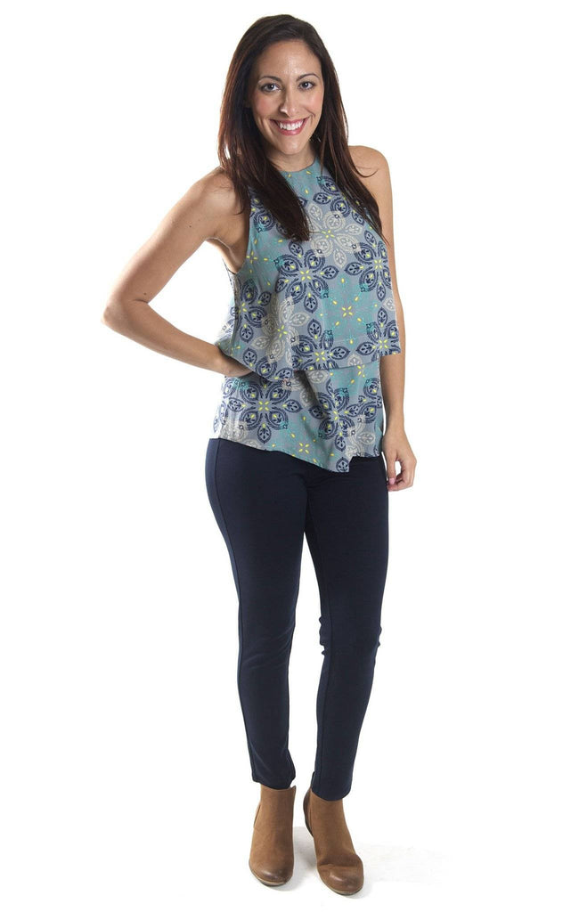 All For Color-Silver Mist Mia Layered Tank-Tops