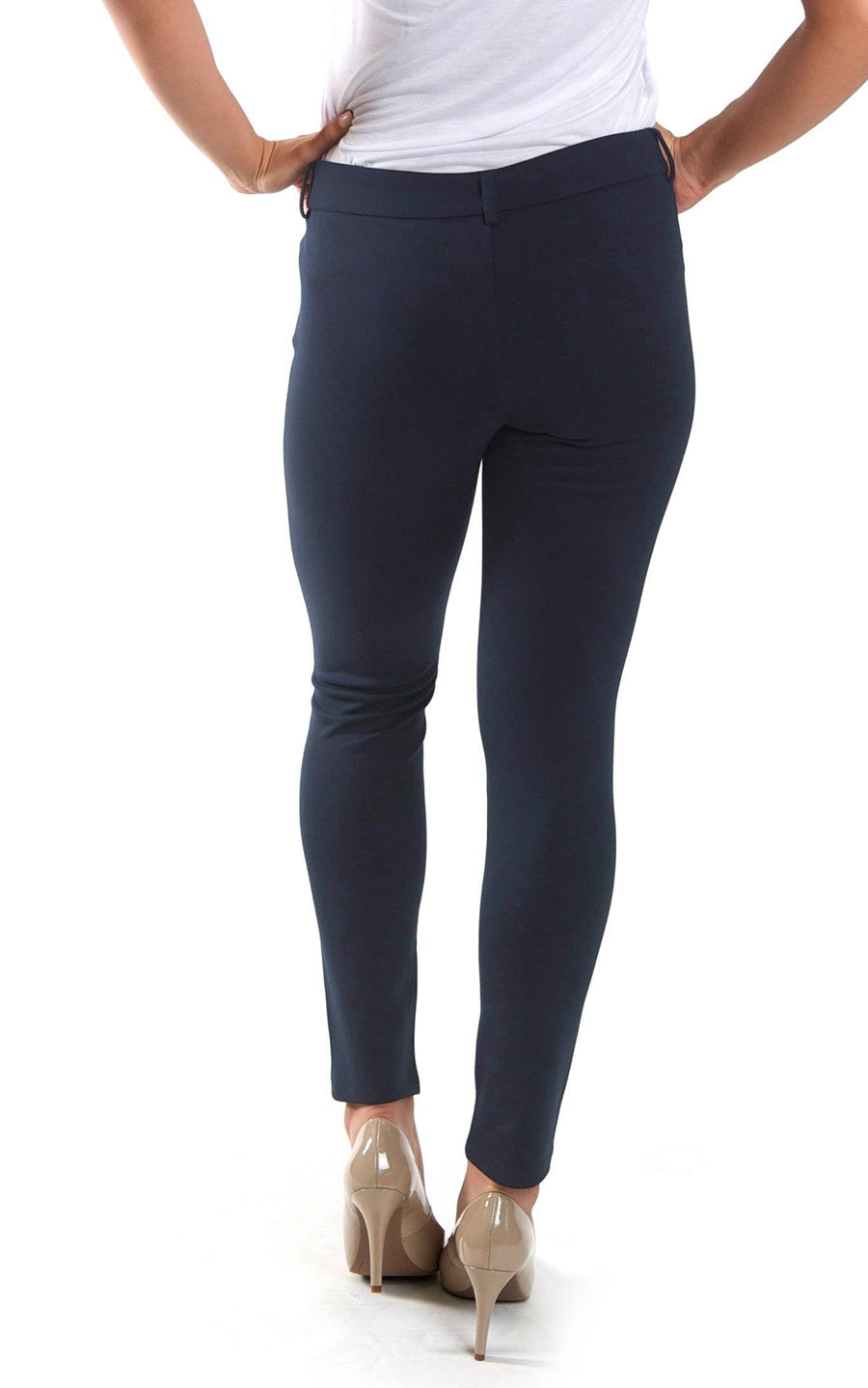 All For Color-Navy Jo Tailored Pant - FINAL SALE-Bottoms