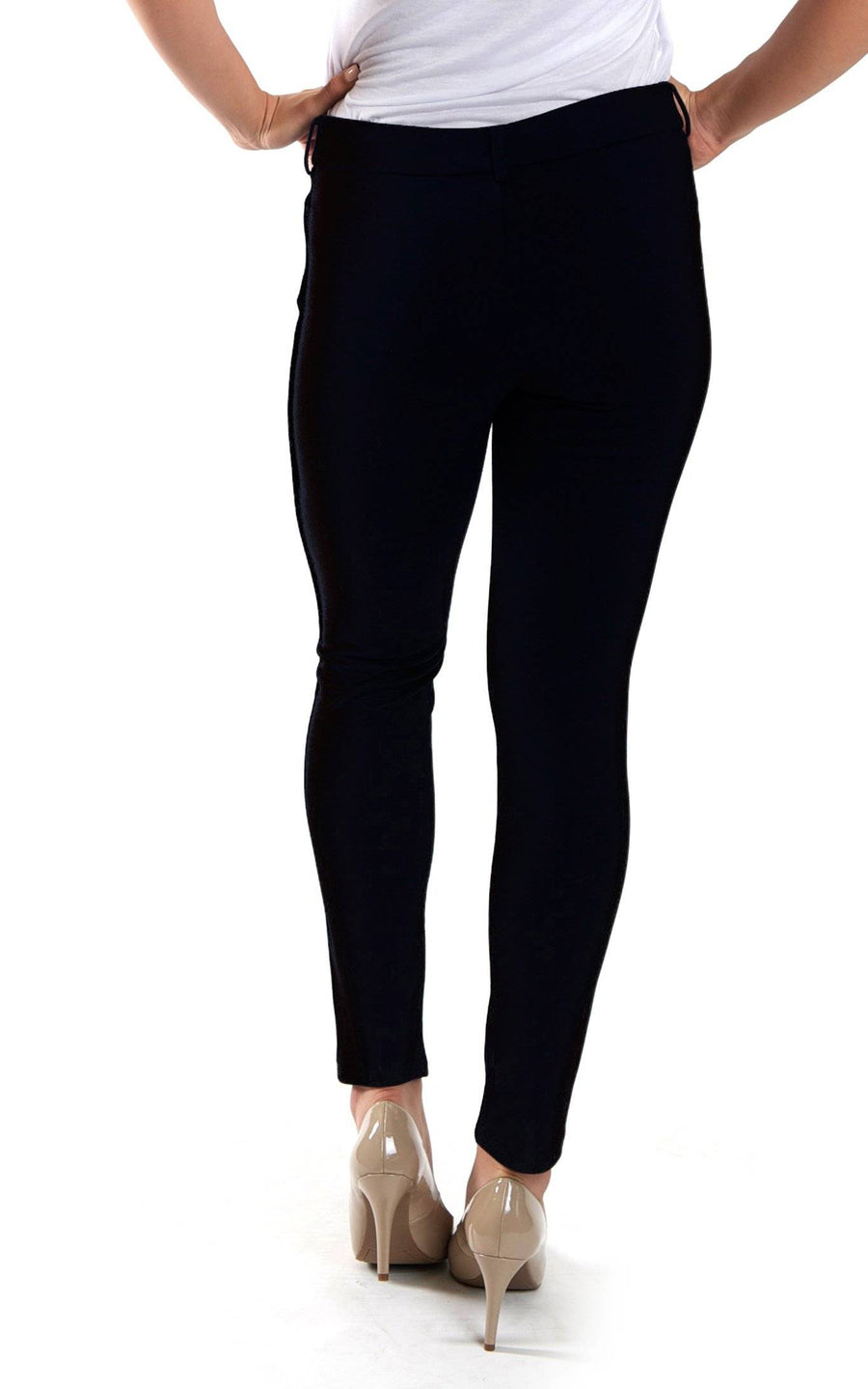 All For Color-Black Jo Tailored Pant - FINAL SALE-Bottoms
