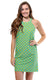 Citrus Grove Seaview Court High Neck Shift Dress