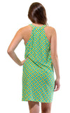 All For Color-Citrus Grove Seaview Court High Neck Shift Dress - FINAL SALE-Dresses