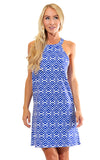 All For Color-Royal Knots Seaview Court High Neck Shift Dress - FINAL SALE-Dresses