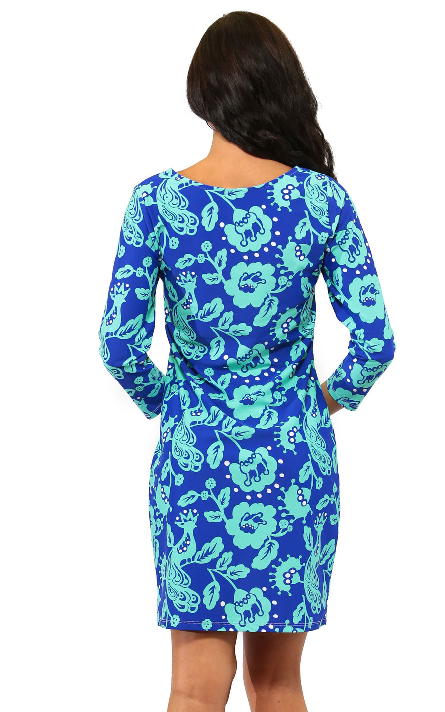 All For Color-Birds of a Feather Lakeside Drive Crew Neck Shift - FINAL SALE-Dresses