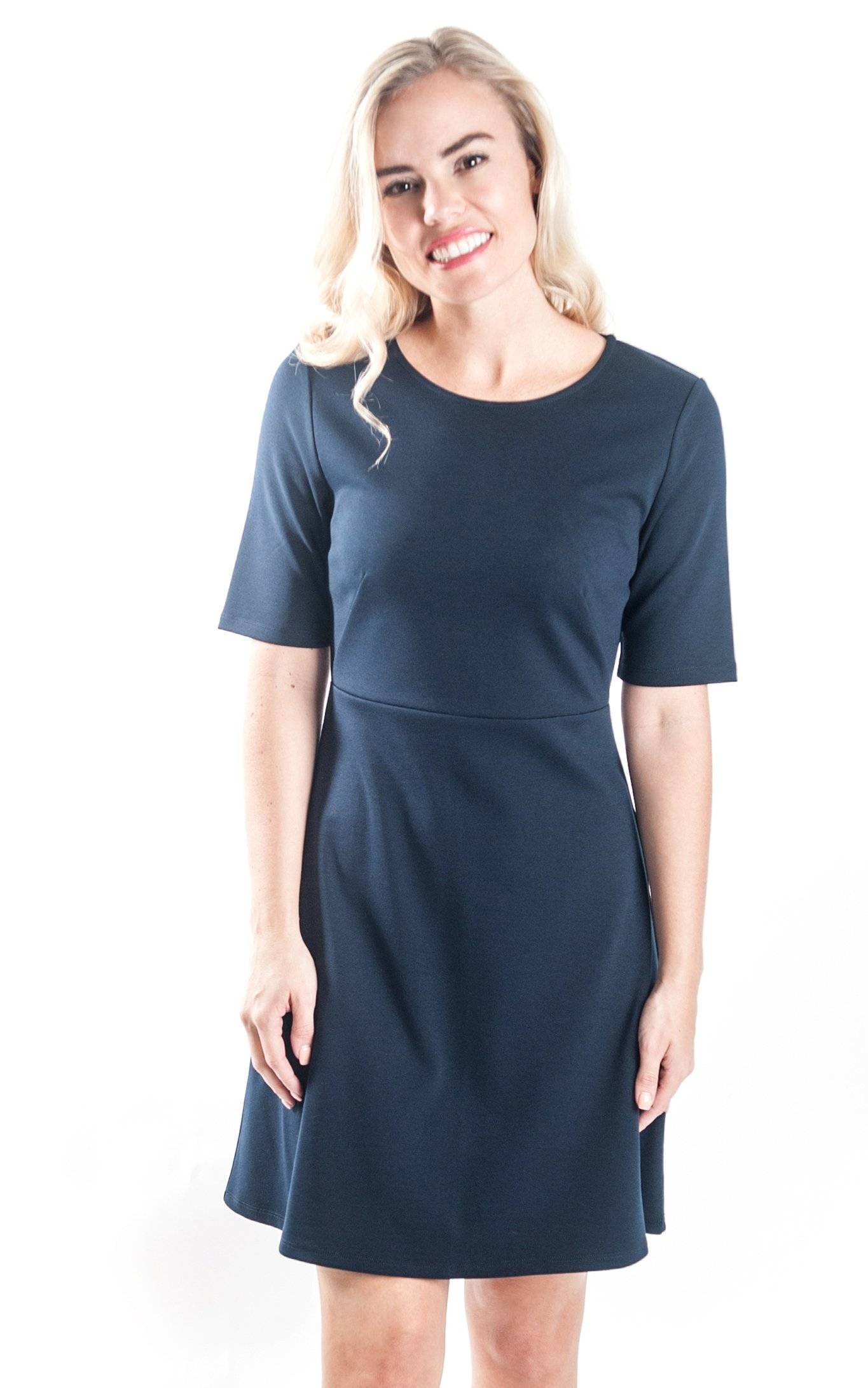 Navy Reese Fit and Flare Dress