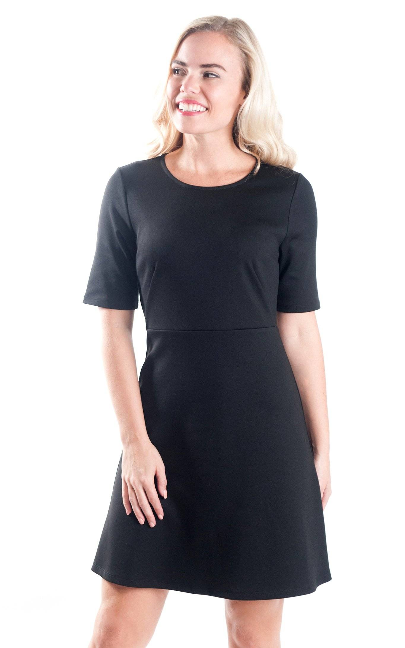 Black Reese Fit and Flare Dress