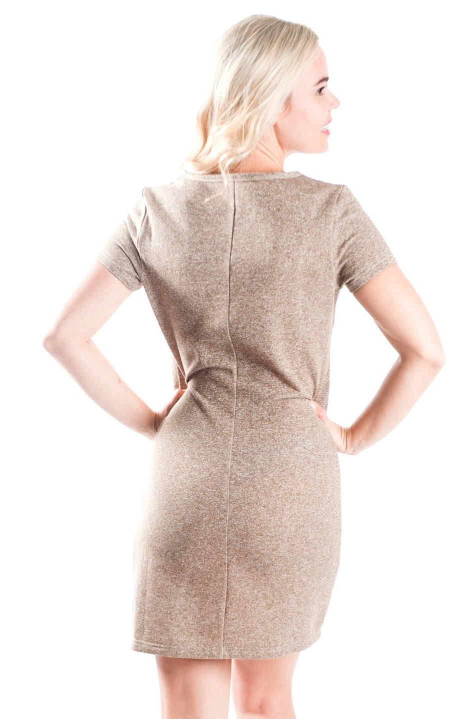 All For Color-Khaki Demi Shift Dress - FINAL SALE-Dresses
