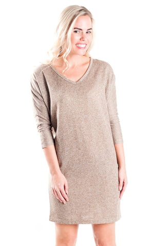 Khaki Jessie Slouch Dress
