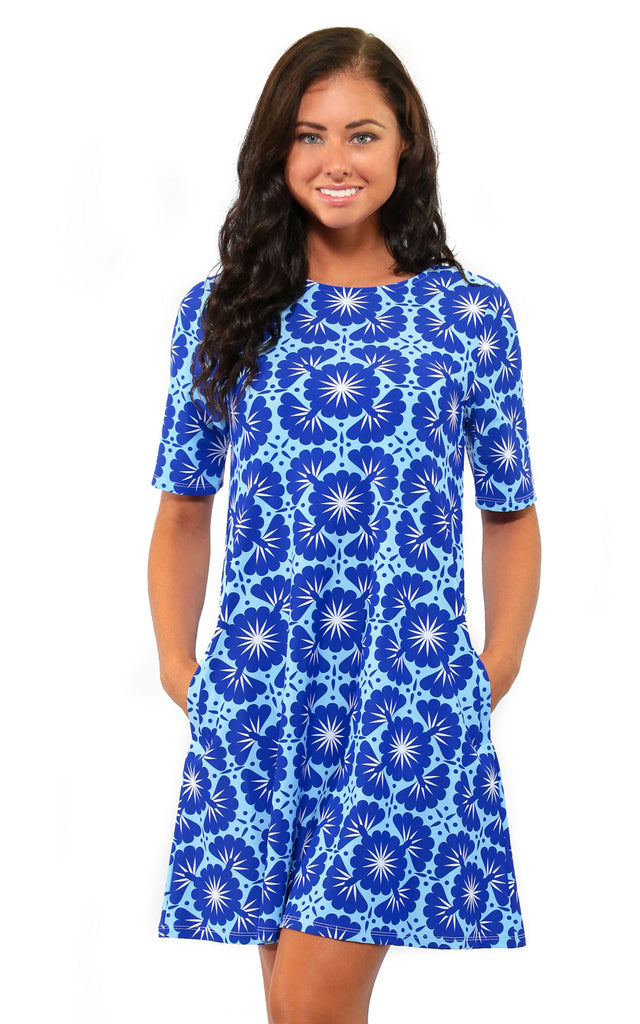 Blue Lagoon Bayshore Lane Swing Dress