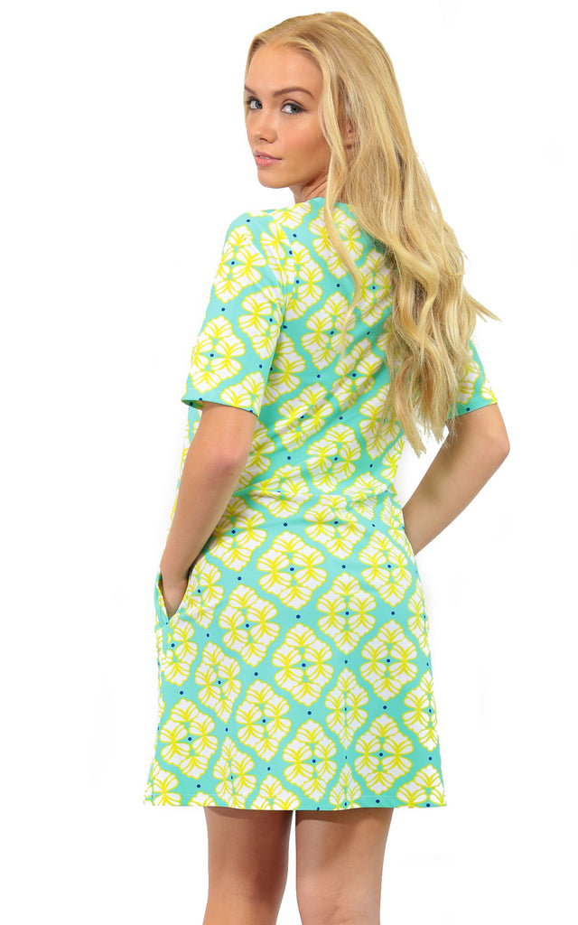 Lime A Rita Bayshore Lane Swing Dress