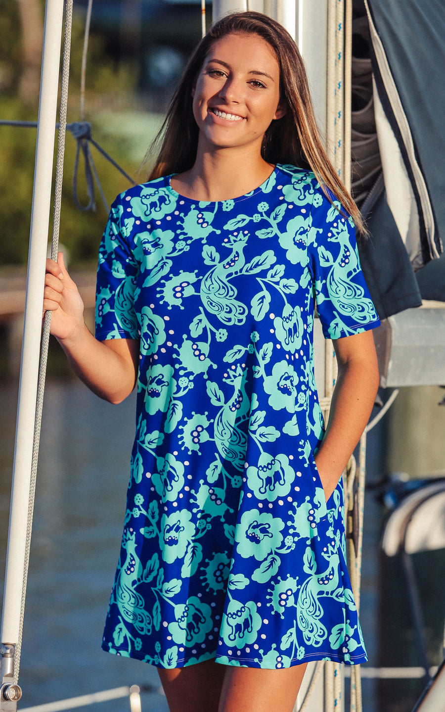 All For Color-Birds of a Feather Bayshore Lane Swing Dress - FINAL SALE-Dresses