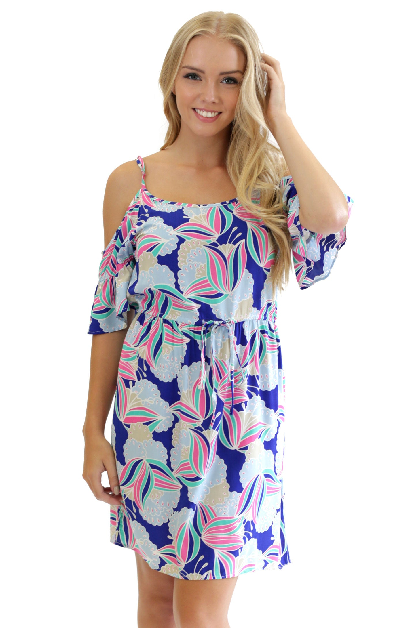 Water Lily Annabelle Cold Shoulder Dress
