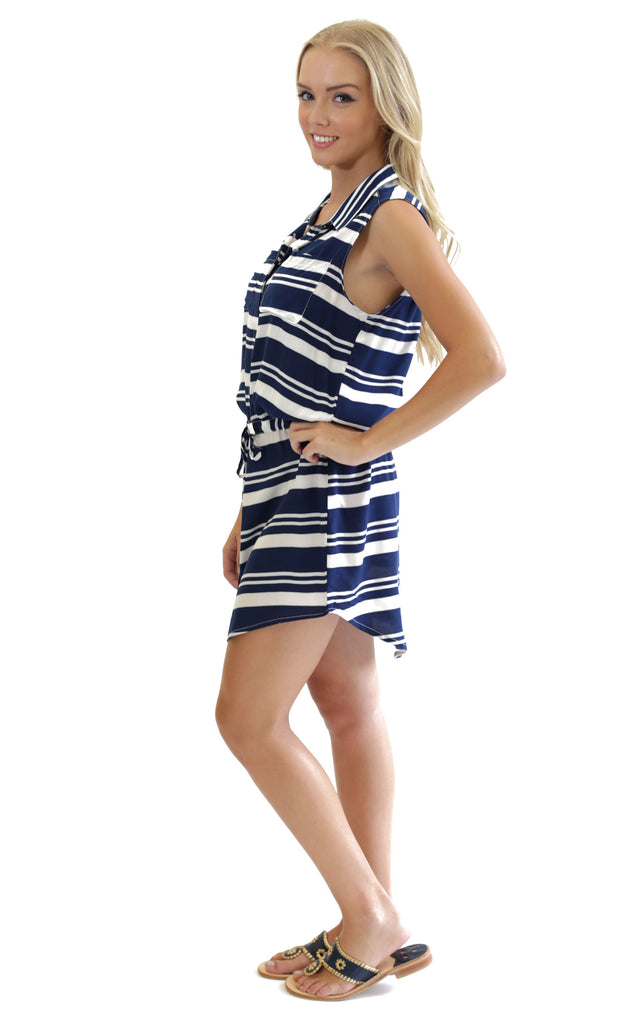 Classic Stripe Renee Button Front Dress