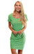 Citrus Grove Cove Road Short Sleeve Scoop Neck Dress