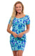 Bahama Blue Cove Road Short Sleeve Scoop Neck Dress