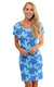 Mandala Turtle Cove Road Short Sleeve Scoop Neck Dress