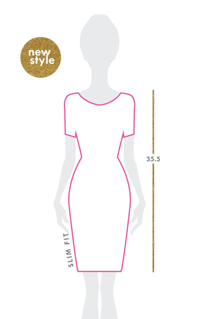 All For Color-Royal Knots Cove Road Short Sleeve Scoop Neck Dress - FINAL SALE-Dresses