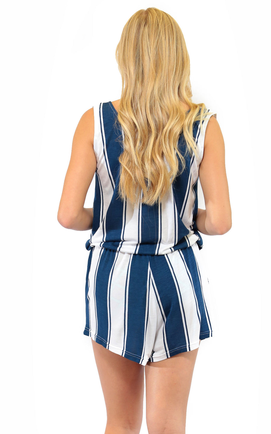 All For Color-Cabana Stripe Callie Romper - FINAL SALE-Rompers