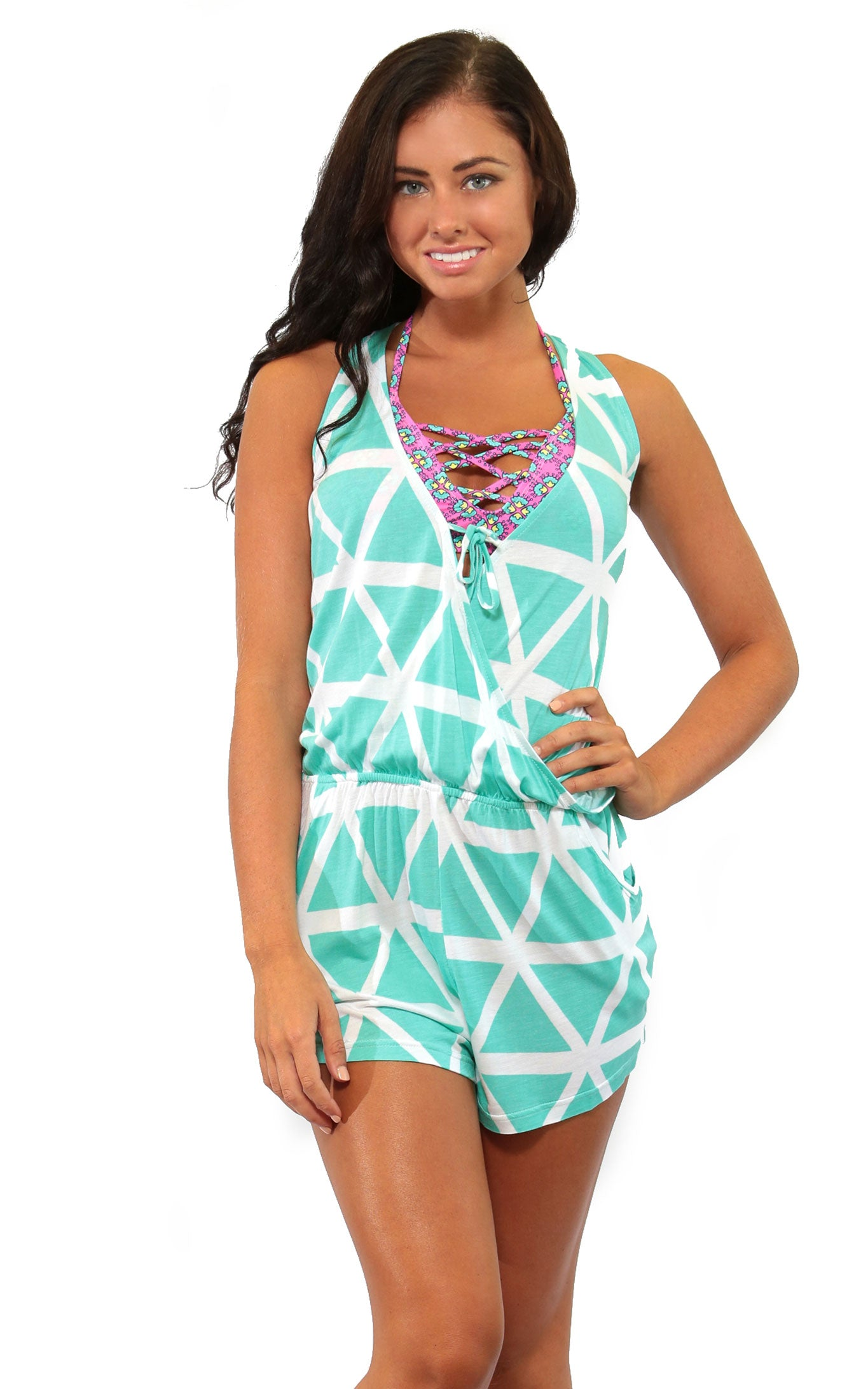 Aqua Breeze Callie Romper