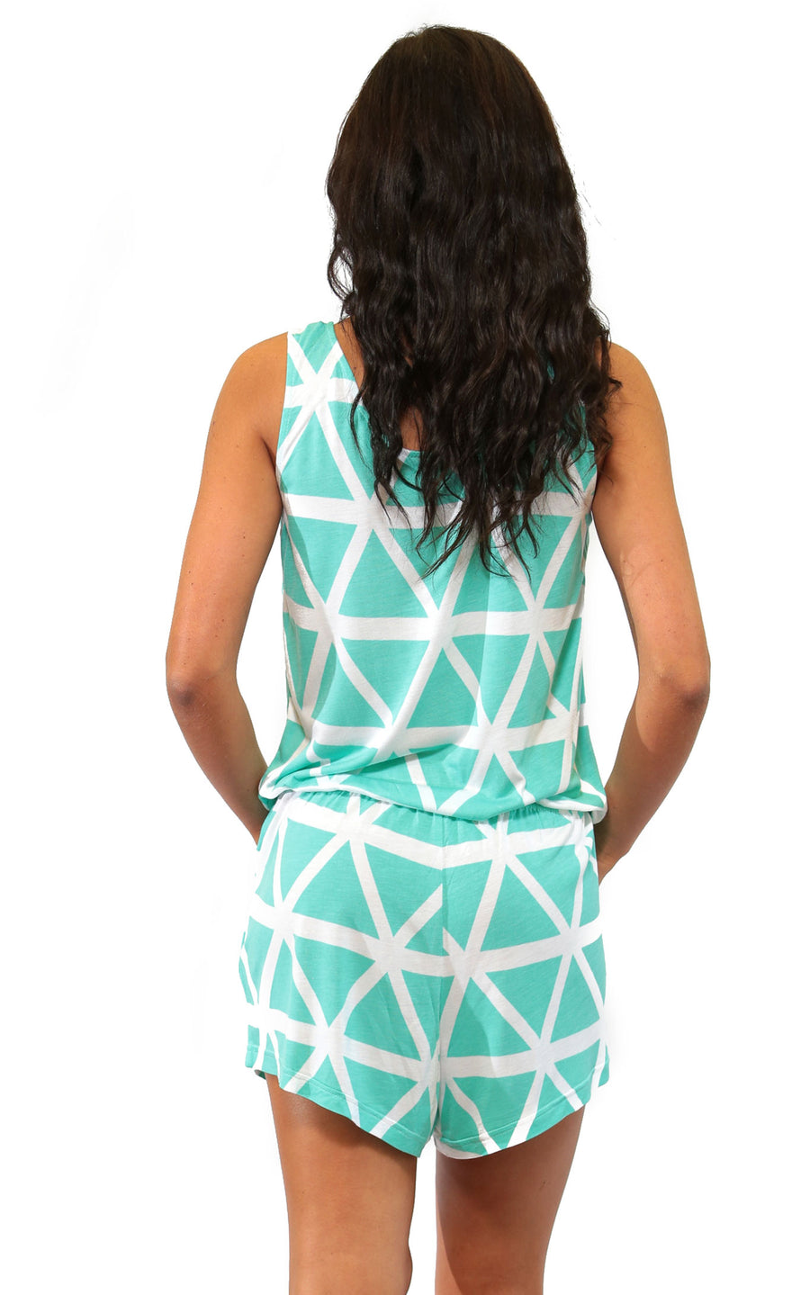 All For Color-Aqua Breeze Callie Romper - FINAL SALE-Rompers
