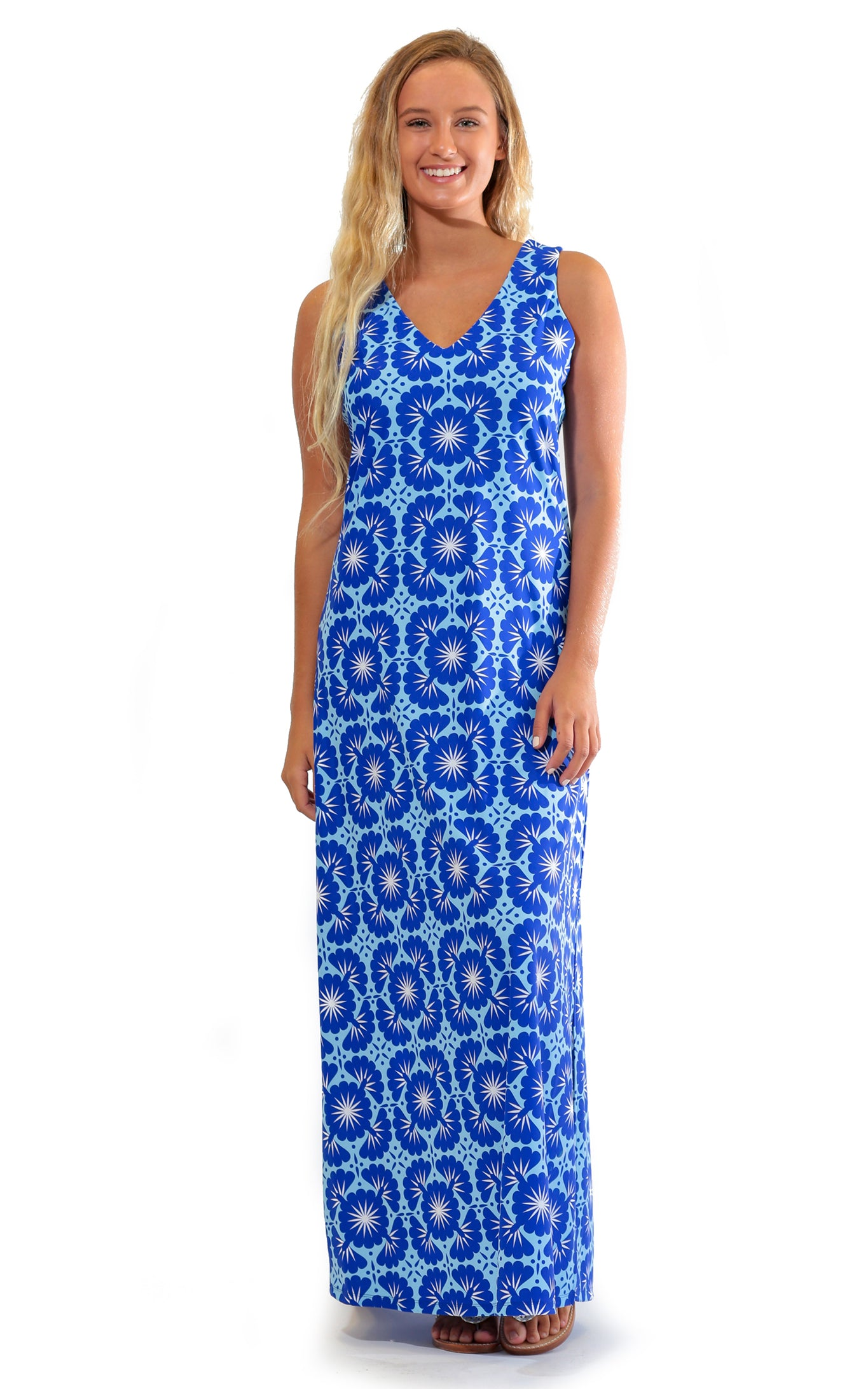 Blue Lagoon Seaside Ridge Maxi Dress