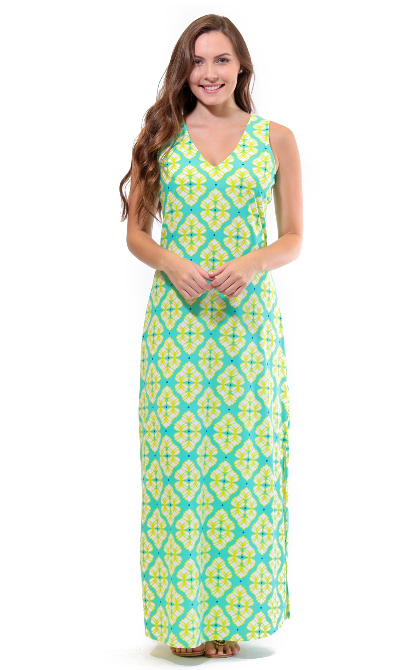 Lime A Rita Seaside Ridge Maxi Dress