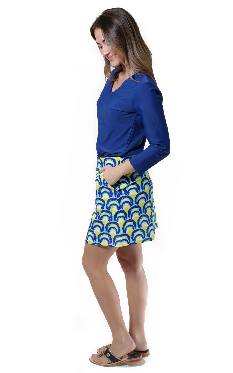 All For Color-Sea Fan Harbor Isle Skort - FINAL SALE-Bottoms