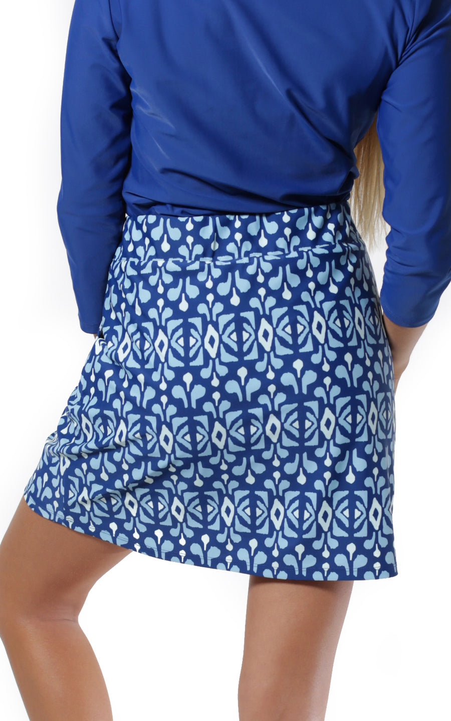 All For Color-Midnight Blue Harbor Isle Skort - FINAL SALE-Bottoms