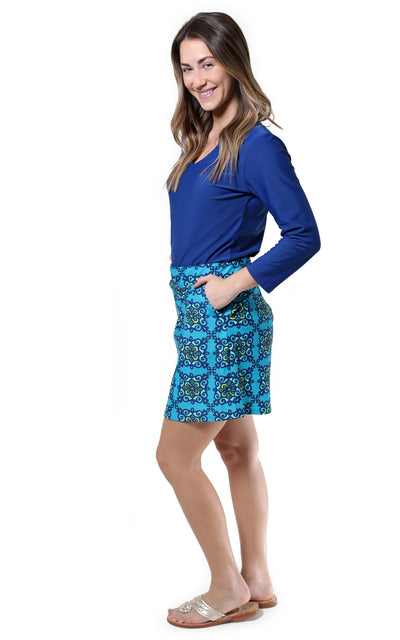 All For Color-Starry Night Harbor Isle Skort - FINAL SALE-Bottoms