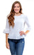 White Cotton Mel Bow Back Blouse - FINAL SALE