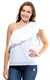 White Cotton Eliza One Shoulder Ruffle Top - FINAL SALE