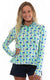 Chasing Waterfalls Aqua Quarter Zip Sun Protective Top