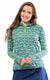 Island Hopping Lime Quarter Zip Sun Protective Top