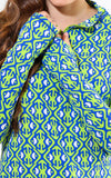 All For Color-Island Hopping Lime Quarter Zip Sun Protective Top - FINAL SALE-Tops