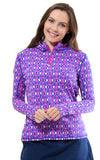 All For Color-Island Hopping Pink Quarter Zip Sun Protective Top - FINAL SALE-Tops