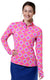 Perfect Match Pink Quarter Zip Sun Protective Top