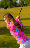 All For Color-Perfect Match Pink Quarter Zip Sun Protective Top - FINAL SALE-Tops