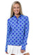 Perfect Match Blue Quarter Zip Sun Protective Top