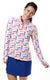 On Par Pink Quarter Zip Sun Protective Top