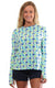 Chasing Waterfalls Aqua Crew Neck Sun Protective Top