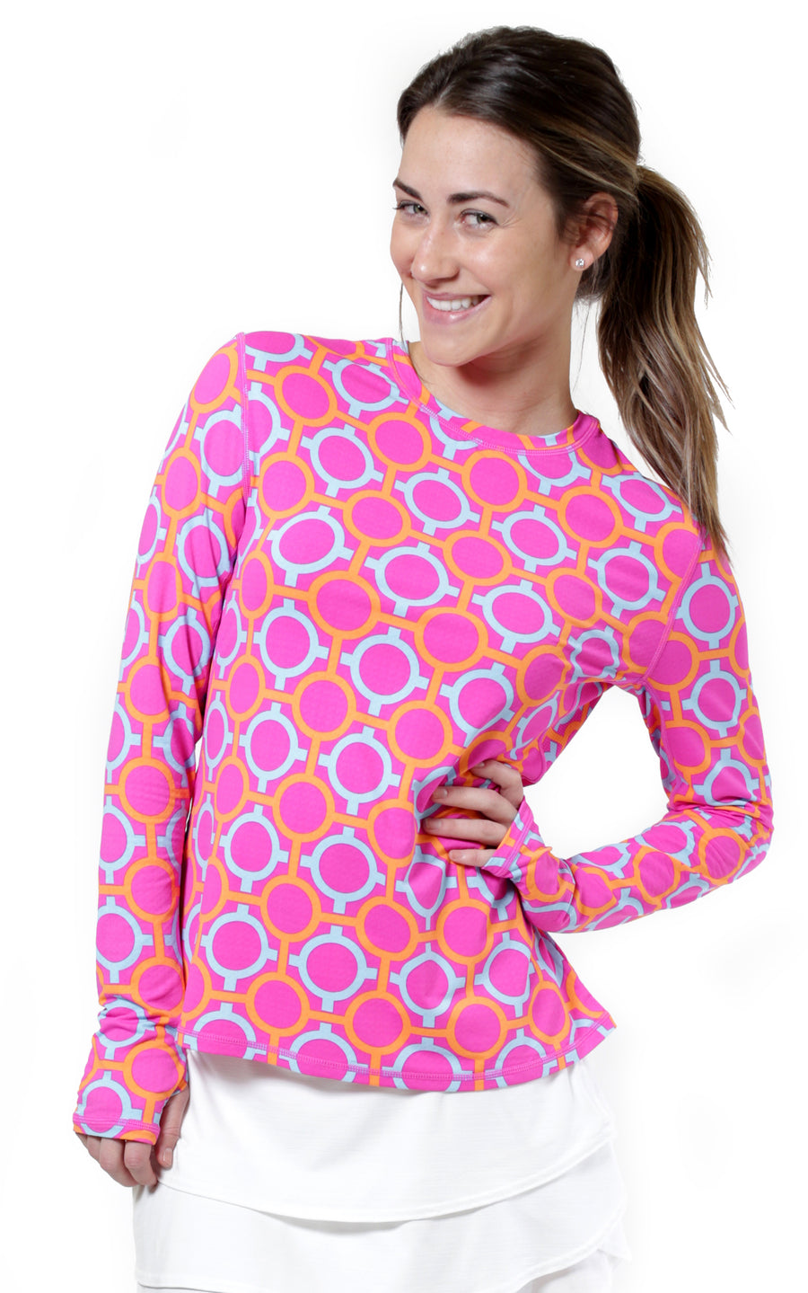 Perfect Match Pink Crew Neck Sun Protective Top - FINAL SALE