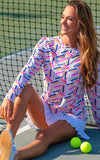 All For Color-On Par Pink Crew Neck Sun Protective Top - FINAL SALE-Tops