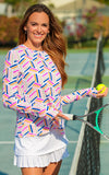 All For Color-On Par Pink Crew Neck Sun Protective Top-Tops