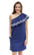 navy tilly one shoulder ruffle dress. - FINAL SALE
