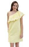 Sloane Ranger-buttercup tilly one shoulder ruffle dress. - FINAL SALE-Dresses