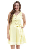 Sloane Ranger-buttercup caroline tie front dress. - FINAL SALE-Dresses