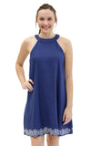 Sloane Ranger-navy blair high neck dress. - FINAL SALE-Dresses