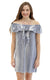 striped linen harlow knot front dress. - FINAL SALE