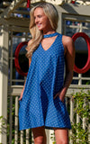 Sloane Ranger-chambray dot quinn choker dress.-Dresses
