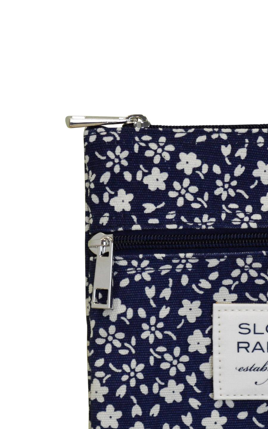 navy floral crossbody.